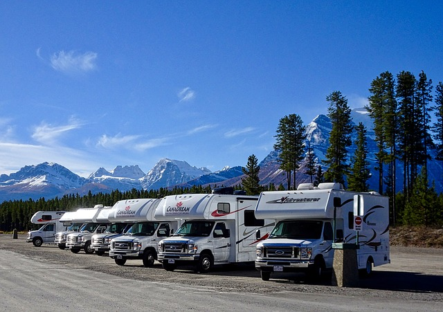 Row of RVs