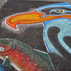 Victoria Chalk Art Festival, 2014. Photo credit @ngawangchodron on Flickr.
